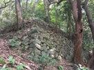 登山道沿いの石垣…