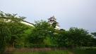 早朝の掛川城