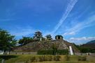 大洲城 二の丸からの本丸…