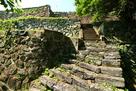大洲城 二の丸から苧綿櫓途中にある石段と…