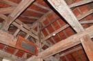 天守3階の屋根裏構造…