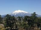 本丸から見た岩木山…