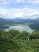 賤ヶ岳から余呉湖を遠望…