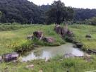 吉川元春館跡の庭園…