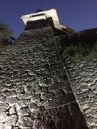 松山城 夜の石垣…