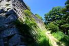 松山城 揚木戸門跡付近の本丸石垣…