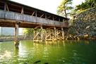 高松城 城舟からの鞘橋…