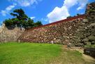 岡山城 中の段石垣…
