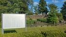 庭園と説明板