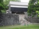 石垣が崩壊した馬具櫓…