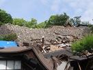熊本大神宮の本殿と、東十八間櫓跡…