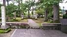 義景公園にある朝倉義景墓所…
