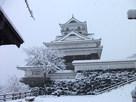 雪の天守(冬)…