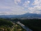木曽川と中津川市街(天守展望台から望む)…
