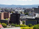 熊本城天守から眺めた市内の風景…