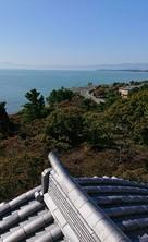 模擬天守から見た琵琶湖…