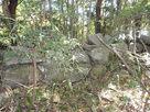 佐々木城址石碑への登口付近の石垣…