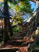 松山城 天守への石段…