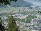 田口城から見た龍岡城…