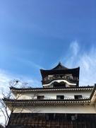 犬山城の秋空