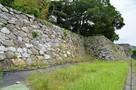 内堀跡から本丸石垣…