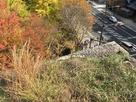 南側 不明門跡 髙櫓台上から…