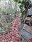 村上神社の石垣…