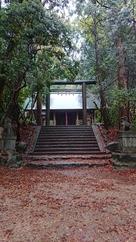 三の丸からの千早神社…