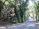 本丸上段の石垣…