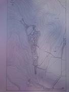 洗馬城の縄張り図…