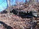 本郭切岸の石積…