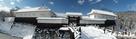 二ノ丸東大手門の雪景色。(120度パノラ…