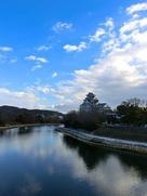 月見橋から見た岡山城…