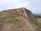 米子城の本丸跡の石垣…