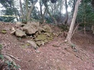 米子城の登り石垣…