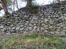 二の丸拡張石垣跡…
