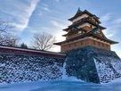 高島城 冬の天守…