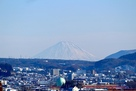 高島城 天守3階から見える富士山…