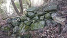 城跡板と石垣