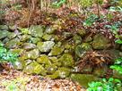 井戸付近の石垣…