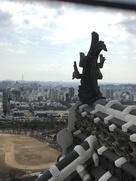 鯱鉾と姫路市内…