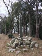 主郭の城址碑