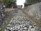 修復のため保管中石垣…