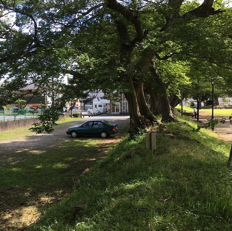 御用米蔵東側の土塁と堀跡