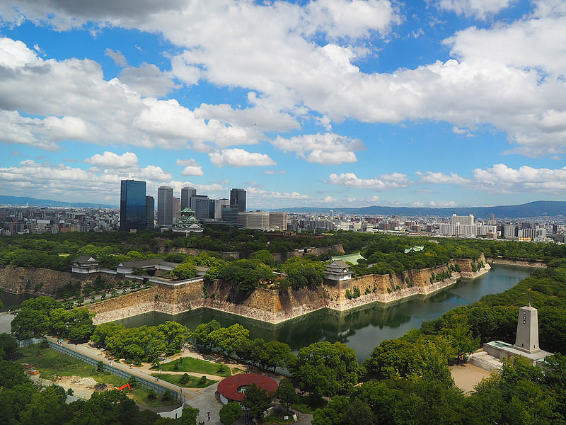 大阪城鳥瞰図②