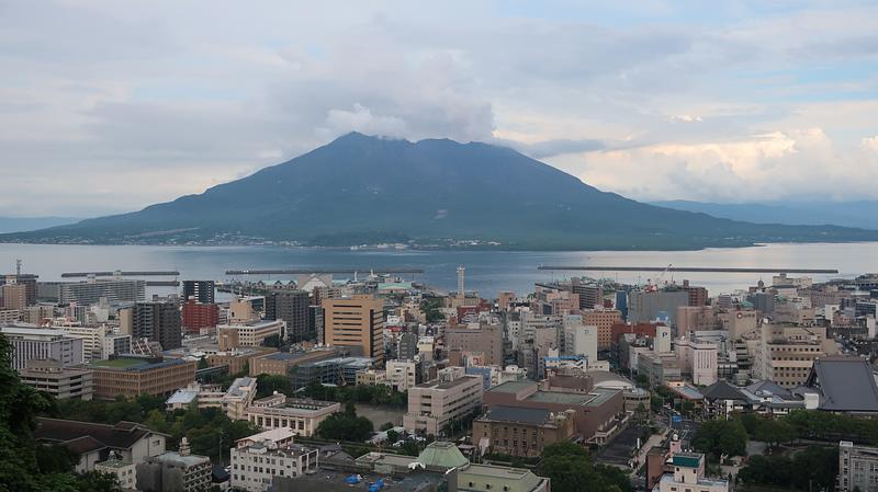 城山展望台から桜島