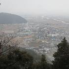 揖斐川町市街地を望む
