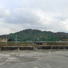 西から見た許斐山城