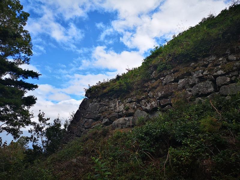 石垣(本丸外曲輪西側北寄り)