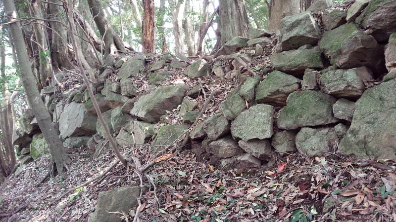 益富城 伝馬屋跡 石垣